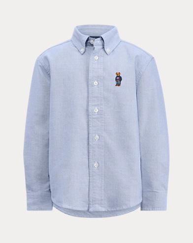 Oxfordhemd mit Bär für Jungen