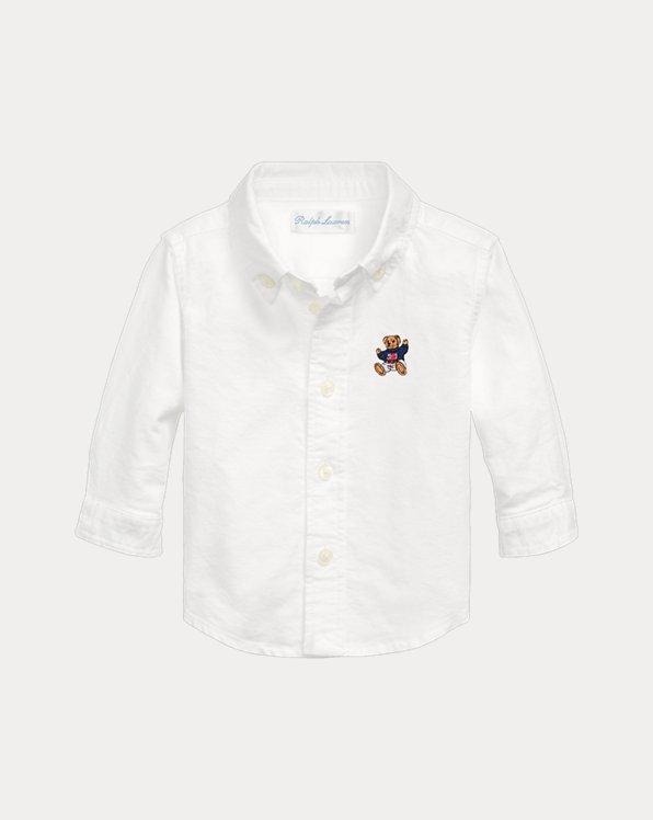 Camicia Oxford con orsetto per bimbo