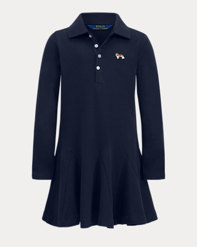 Girl's Dog Polo Dress