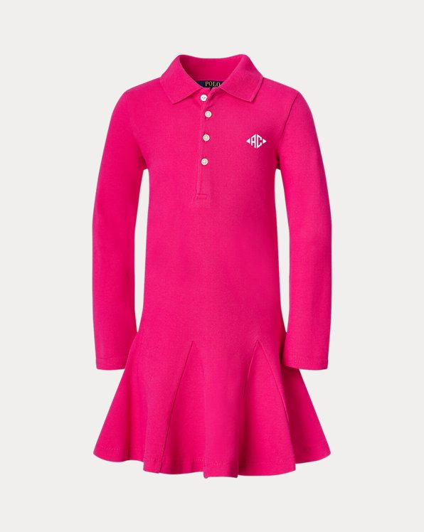 Girl's Monogram Polo Dress