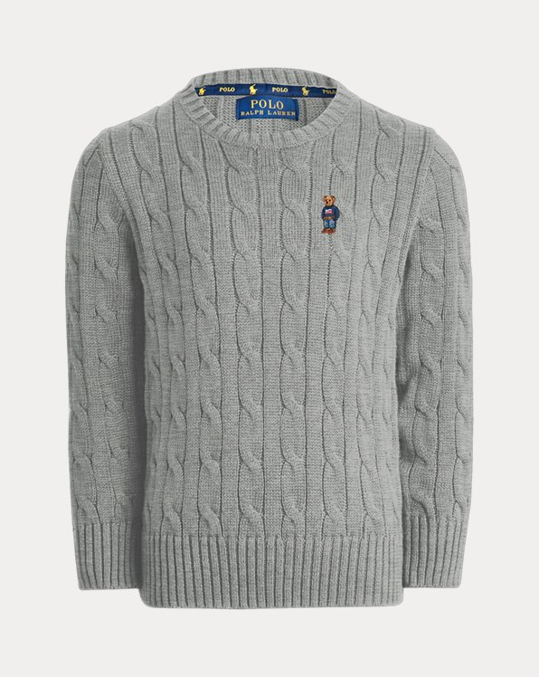 Boy's Cable Crewneck Sweater