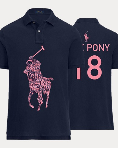 Men's Pink Pony Polo Shirt