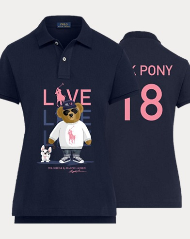 Women\u0027s Pink Pony Polo Shirt