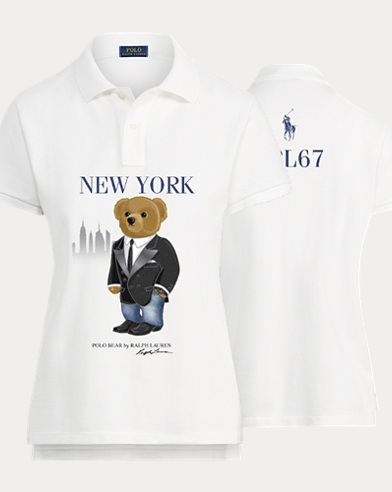 Women's Winter Bear Polo Shirt