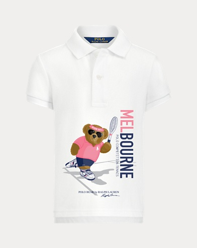 Big Girl Preppy Bear Polo Shirt