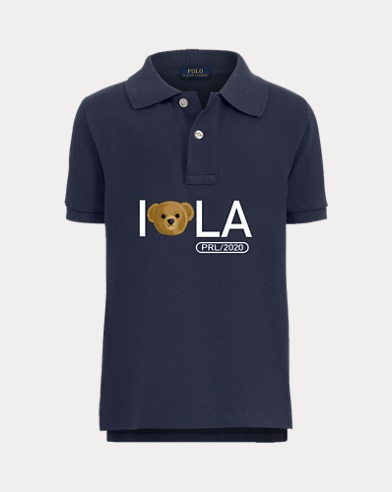 Boy's Bear Head Polo Shirt