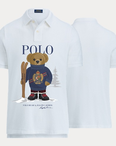 Boy's Ski Bear Polo Shirt