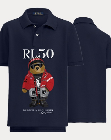 Boy's Winter Bear Polo Shirt