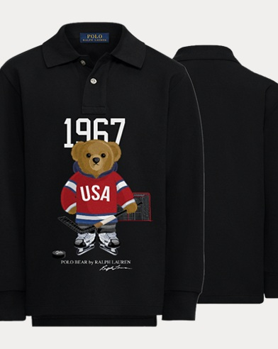 Boy's Hockey Bear Polo Shirt