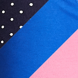 Navy White Dot/Blue/Pink