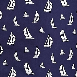 Cruise Navy Boat Print
