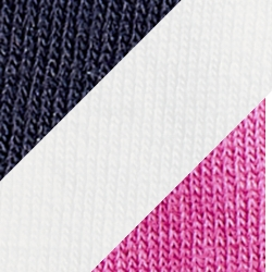 Navy White Pink Solid